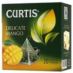 Чай Curtis зеленый в пирамидках с манго 20x1,8г