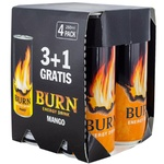 Энергетический напиток Burn Mango 0,25л х 4шт