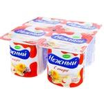 Йогуртовый продукт Campina Нежный с абрикосовым/яблочным пюре 4x100г