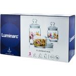 Set 3 borcane pastrare cu imprimeu Luminarc