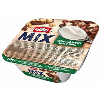 Йогурт Muller Mix choco stars 130г - купить, цены на Метро - фото 1