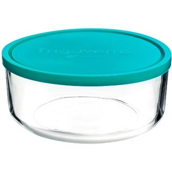 Контейнер с крышкой Bormioli Frigoverre пищевой круглый стеклянный1,25л - купить, цены на Метро - фото 1