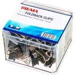 Clip металлический Sigma Black 19мм 80шт