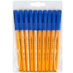 Ручка шариковая Schneider Tops F/M505 сині 10шт
