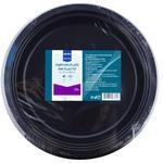 Тарелка пластиковая Metro Professional чёрная 22см 20шт