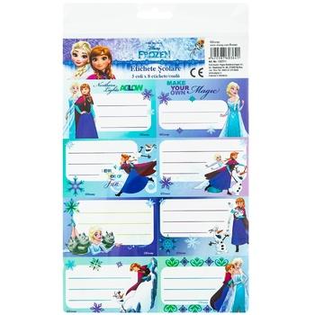 Школьные этикетки Frozen 40 штук - купить, цены на Метро - фото 1