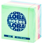 Info notes 4*75x75mm 100 file Neon