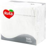 Салфетки сервировочные Ruta белый 1 слой 33х33 см 100шт