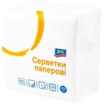 Салфетки сервировочные ARO белый 1 слой 33х33 см 200шт