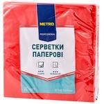 Servetele Metro Professional rosii 3 strat 33cmx33cm 20buc
