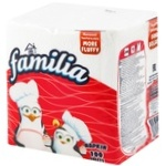 Салфетки бумажные Familia Plus цвет 30х30см 100шт