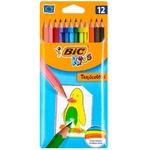 Карандаши цветные Tropicolor Bic 12 штук