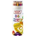 Set creioane colorate în tub 36 bucăți