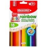 Карандаши цветные Rainbow Fibracolor с точилкой 18шт