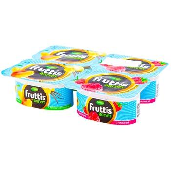 Йогурт Campina Fruttis малина/груша-ваниль 3% 4x100g - купить, цены на Метро - фото 1
