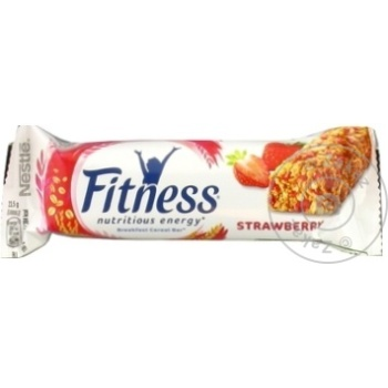Baton de cereale Nestle Fitness cu capsuna 23,5g - cumpărați, prețuri pentru Metro - foto 1