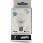 Светодиодная лампа Gauss A60 7ватт патрон обычный E27 нейтральный цвет