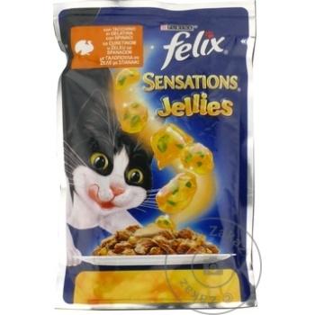 Корм для кошек Felix шпинат/индейка 100г - купить, цены на Метро - фото 2