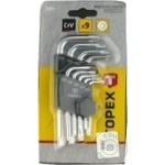 Ключи Торех TORX T10-T50 короткие набор 9шт