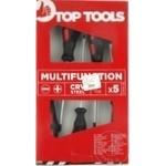 Отвертки Top Tools набор 5шт черные