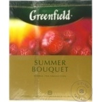 Ceai Greenfield cu zmeura in plicuri Summer Bouquet 100x2g - cumpărați, prețuri pentru Metro - foto 1