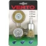 Щетки Verto для дрели набор 3шт