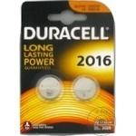 Батарейка Duracell Lithium 2х2016