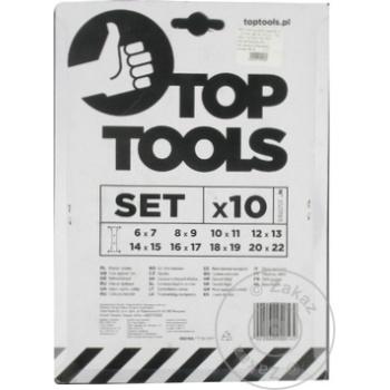 Ключи трубчатые Top Tools 6-22мм набор - купить, цены на Метро - фото 2