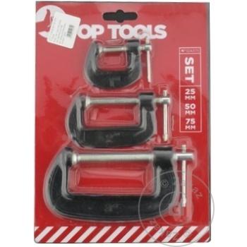 Струбцина Top Tools Tip G 25/50/75мм набор 3шт - купить, цены на Метро - фото 3