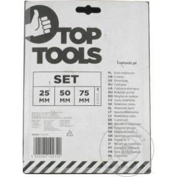 Струбцина Top Tools Tip G 25/50/75мм набор 3шт - купить, цены на Метро - фото 2