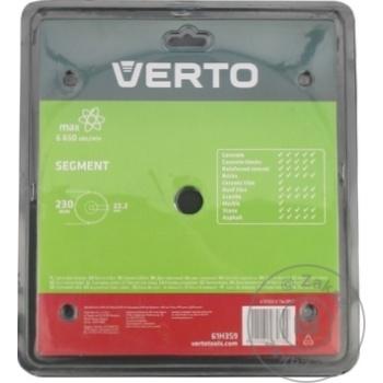 Диск алмазный Verto сегментный 230мм - купить, цены на Метро - фото 3