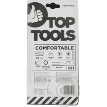 """Отвертка с держателем Top Tools """"T"""" + сменные наконечники и головки набор 21шт - купить, цены на Метро - фото 2"""