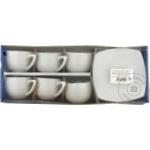 Набор для кофе фарфор белый 100мл 6шт