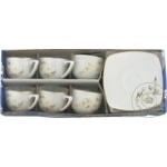Set cafea portelan flori 100Ml 6buc