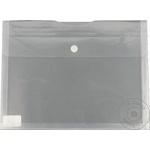 Папка-конверт пластиковая A4 на липучке/кнопке горизонтальная