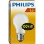 Лампа накаливания Philips A55 100Ватт E27 патрон обычный матовая
