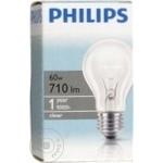Лампа накаливания Philips A55 60 Ватт E27 патрон обычный прозрачная