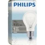 Лампа накаливания Philips A55 75Ватт E27 патрон обычный прозрачная
