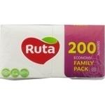 Салфетки сервировочные Ruta белый 1 слой 24х24 200шт
