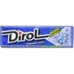 Жевательная резинка Dirol frosty mint 13,6г