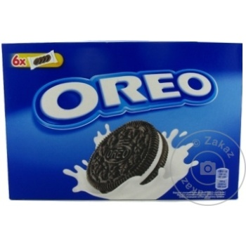 Biscuiti Oreo cu gust de cacao si crema vanilie 228g - cumpărați, prețuri pentru Metro - foto 1