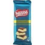 Шоколад Nestle пористый белый и молочный 82г