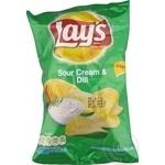 Chips Lays cu gust de smantina si verdeata 70g