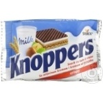 Napolitane Knoppers cu ciocolata 25g