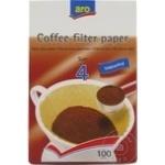 Фильтры для кофе Nr.4 ARO 100шт