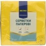 Салфетки Metro Professional желтые трехслойные 33х33 20шт