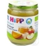 Пюре HiPP яблоко/манго с творожком 7+мес. 160г