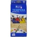 Tempera 12 tuburi 6ml